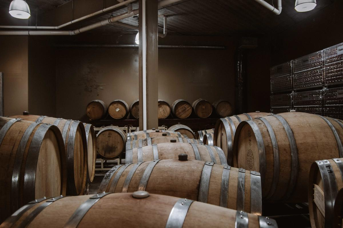 Bonobo Winery Oak Barrels