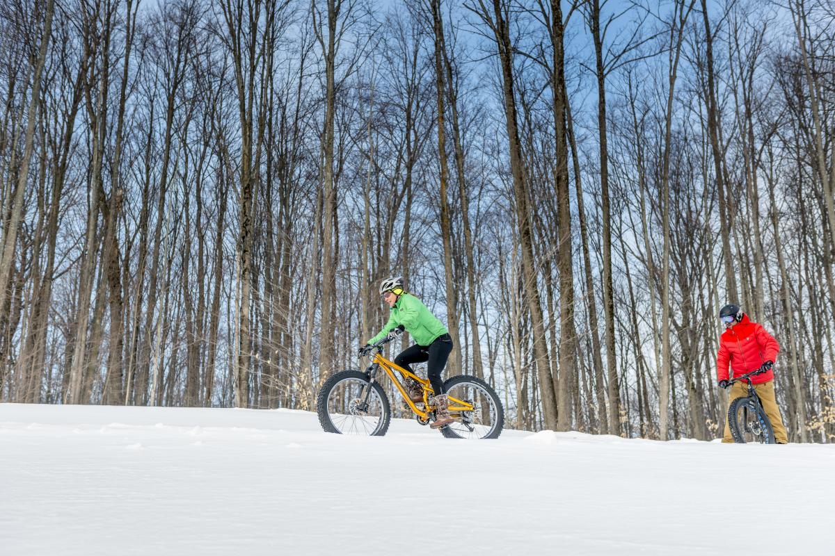 Fat Biking at Shanty Creek