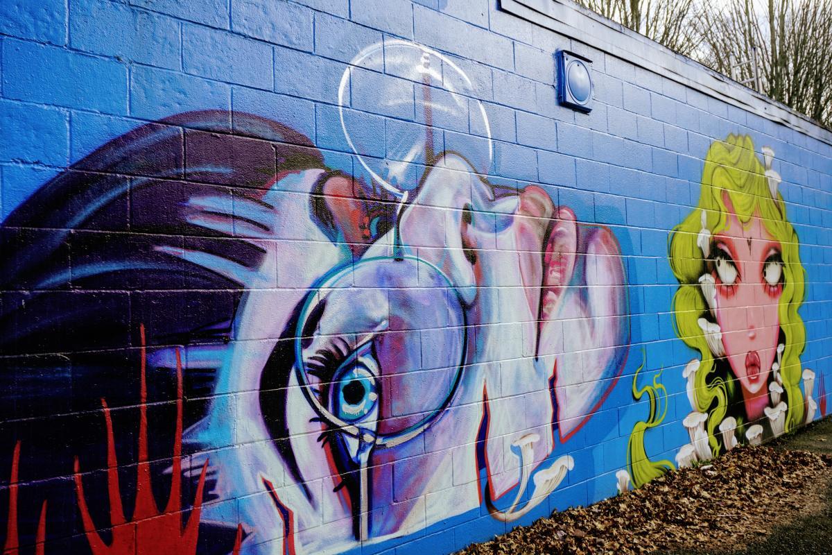 Fourth Plain mural - Swift Skate Park
