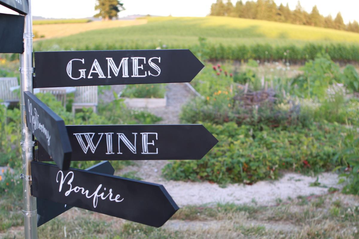 Lawn Games at the vineyard