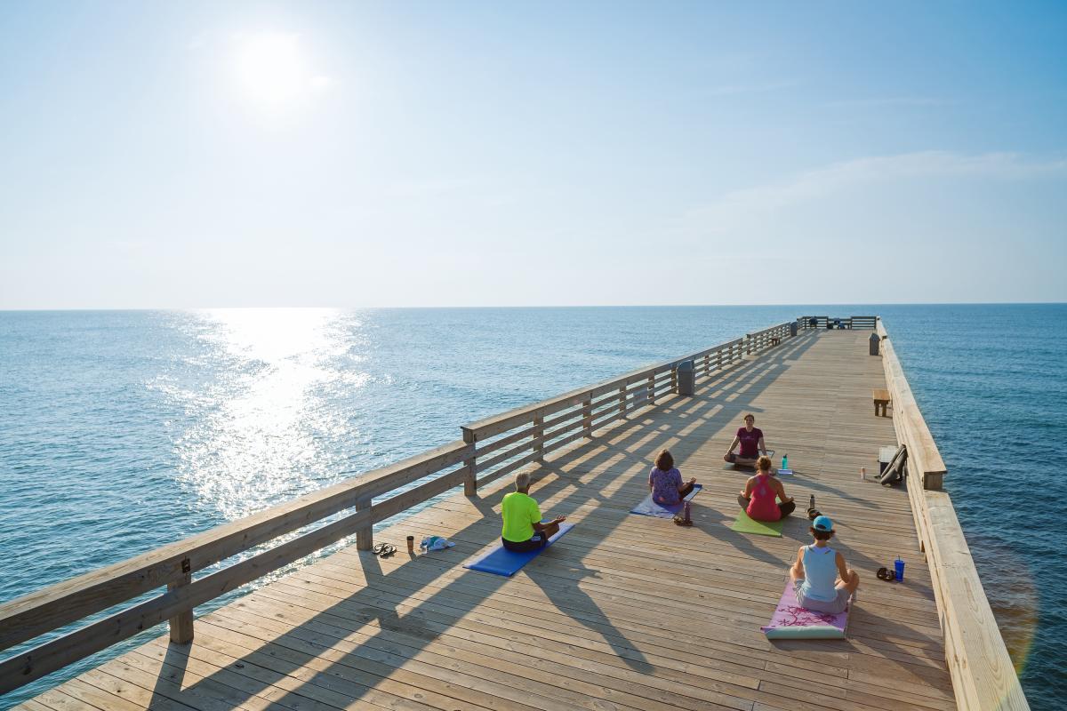 Yoga on The Wrightsville Beach Pier