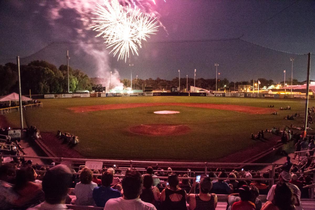Wilmington Sharks Baseball Fireworks