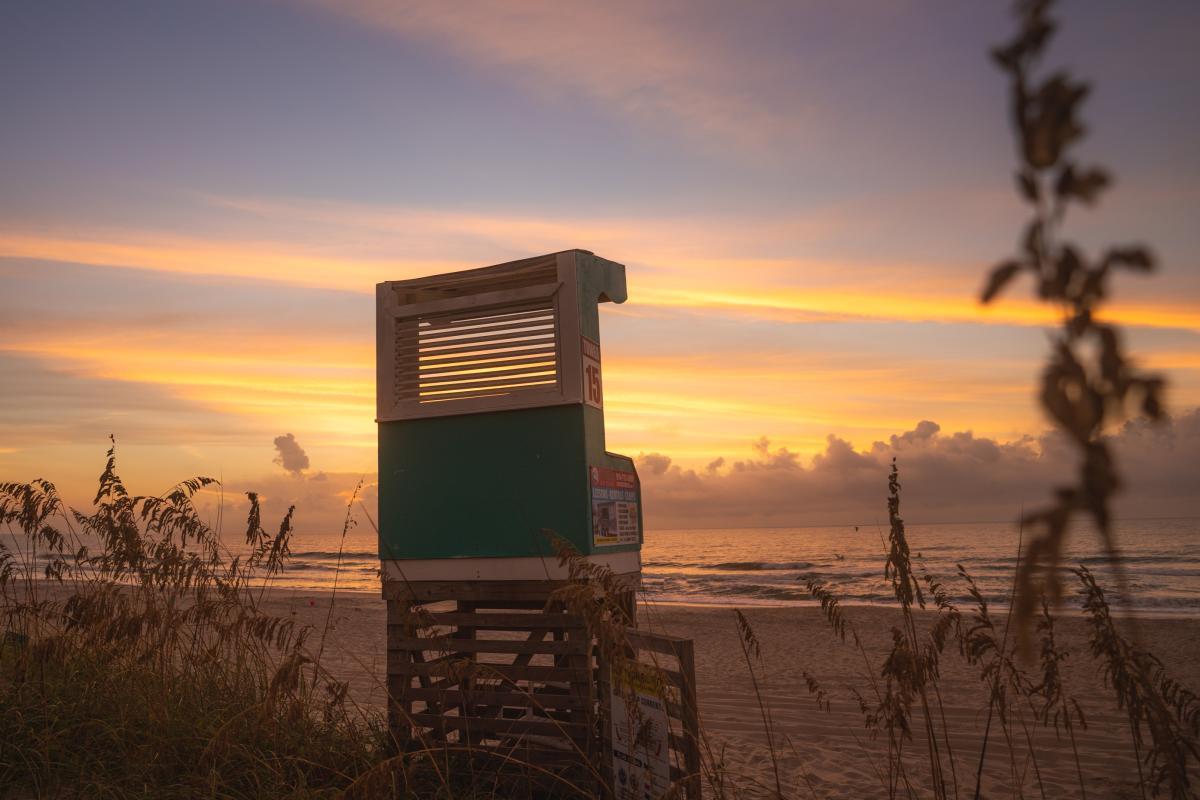 Carolina Beach lifeguard stand