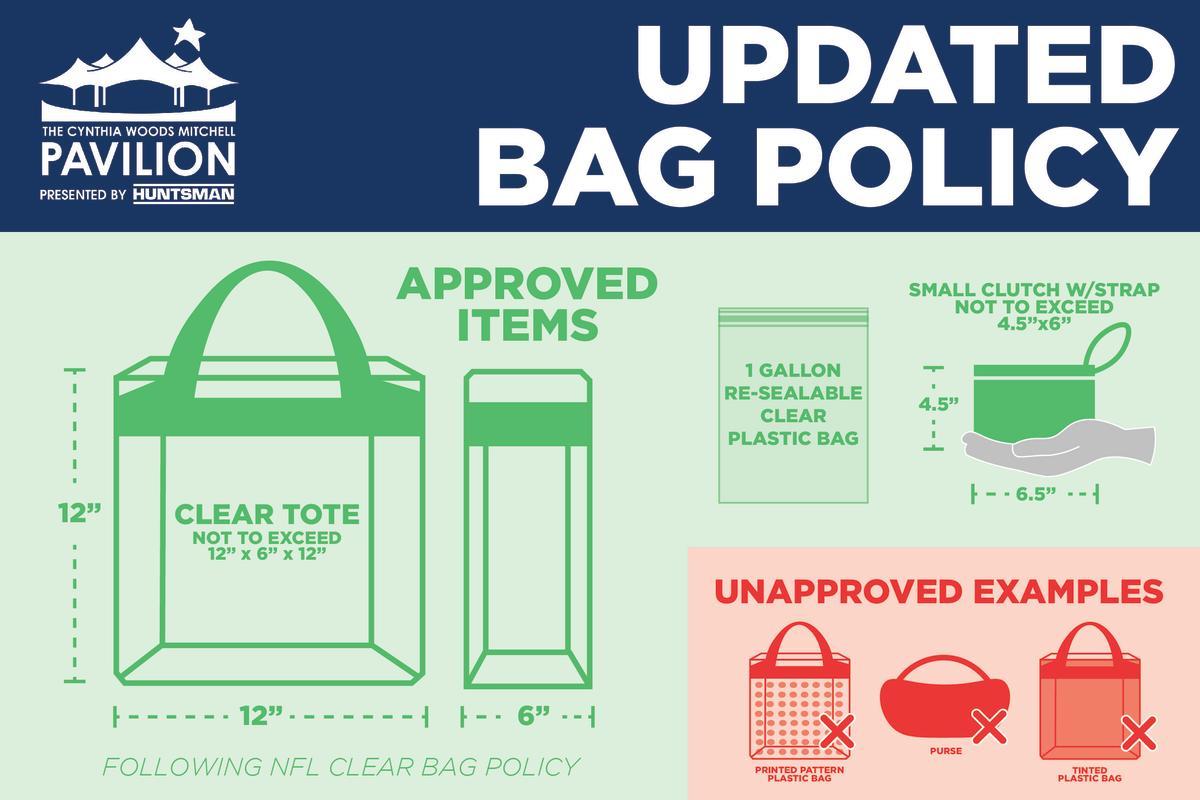 2021 Pavilion Bag Policy