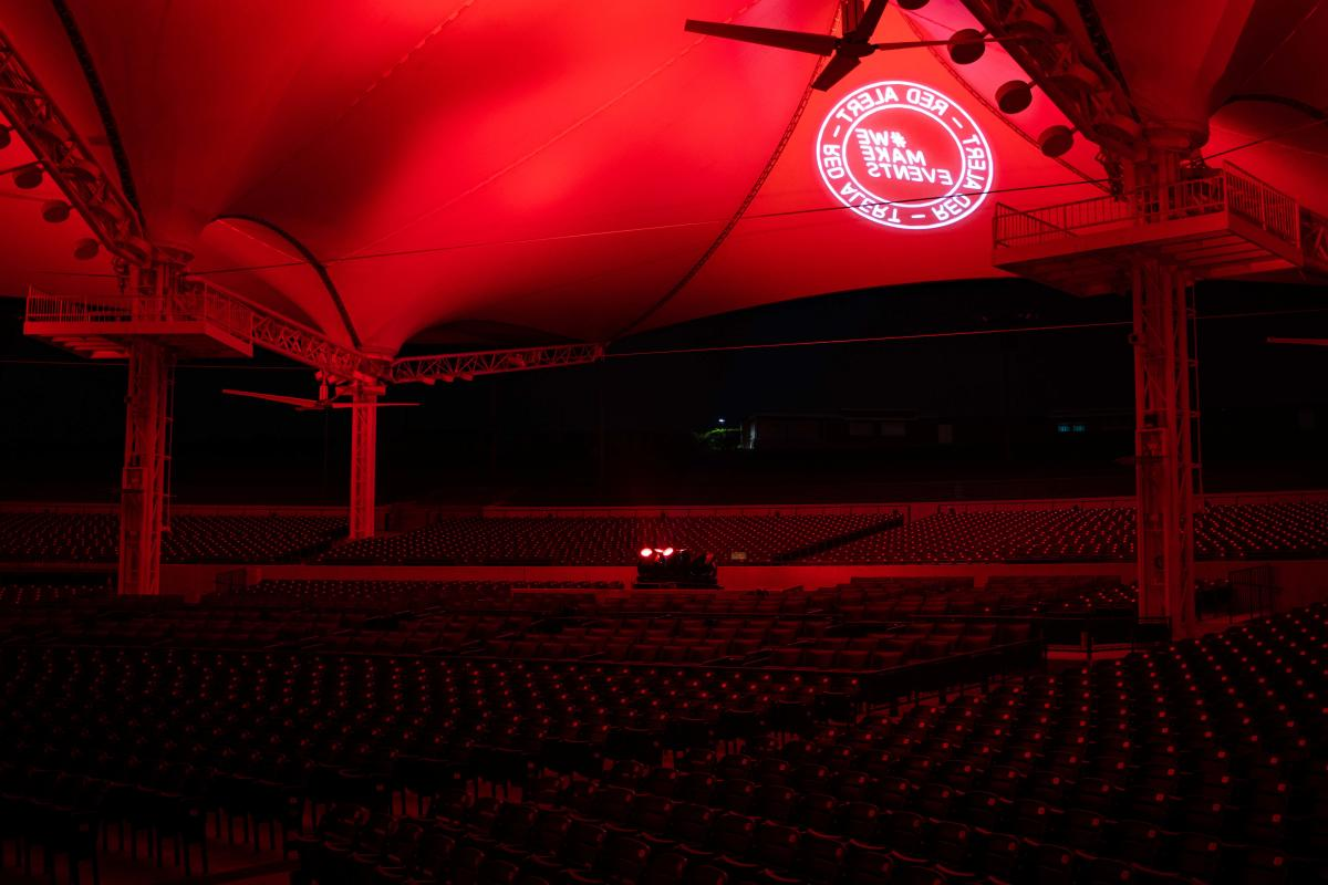 The Cynthia Woods Mitchell Pavilion on Red Alert