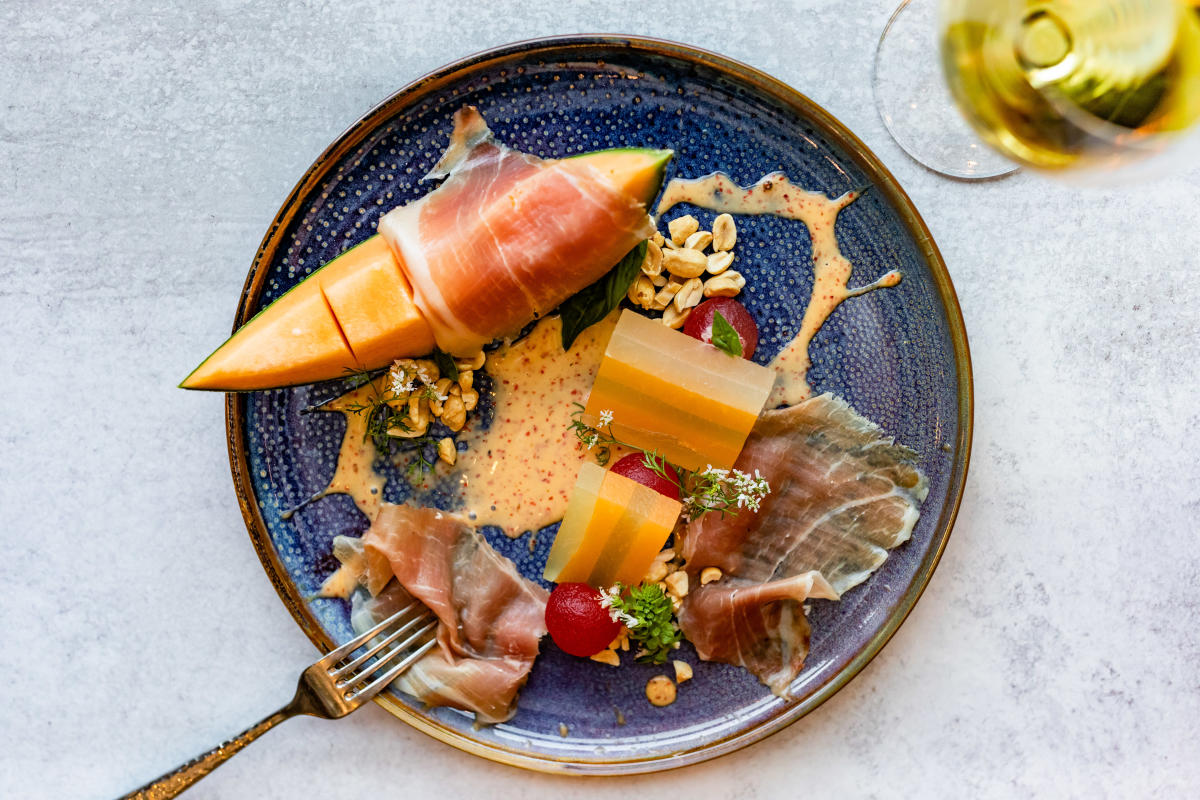 Country Ham & Summer Melon at Back Table Kitchen & Bar