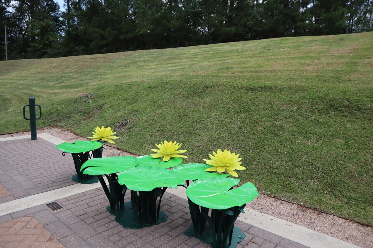 Art Bench - Texas Dawn Water Lily