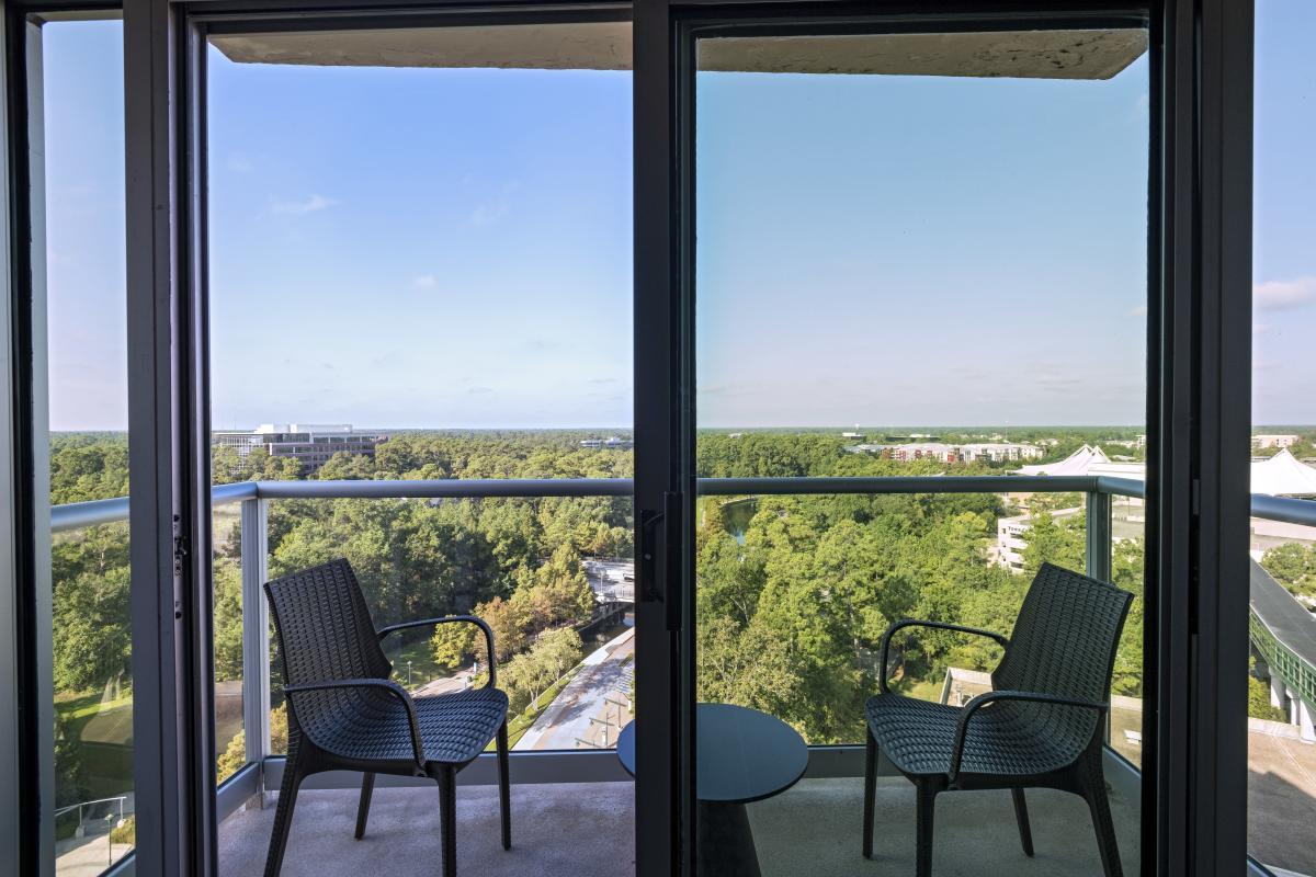 The Woodlands Waterway Marriott Hotel Room View