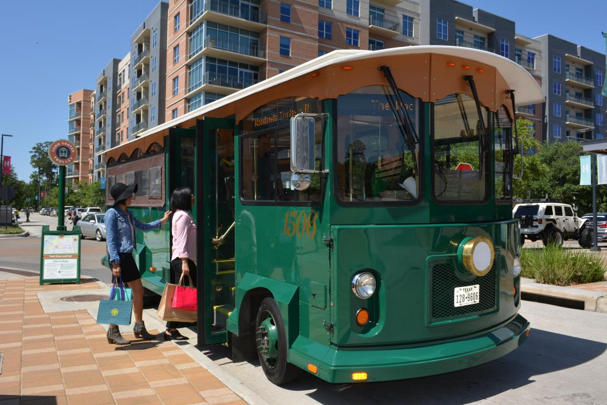 The Woodlands Waterway Trolley at Hughes Landing