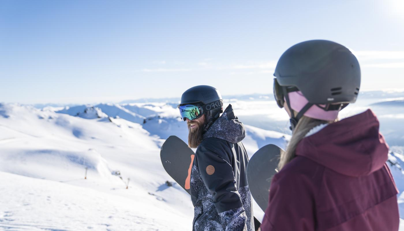 Couple at Cardrona Alpine Ski Resport