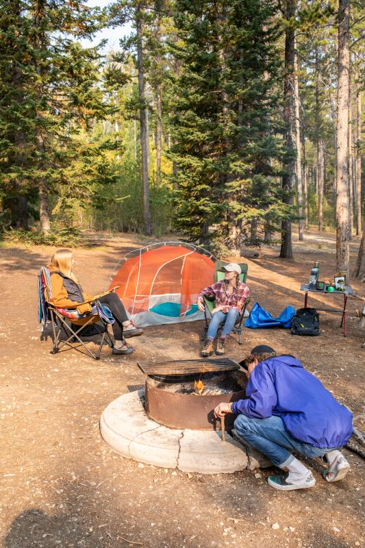 campfire on casper mountain