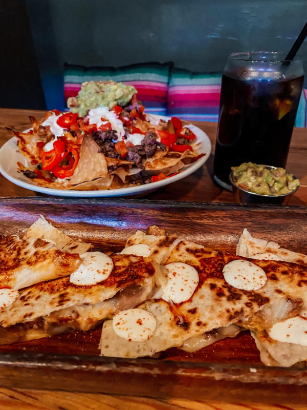 Image of a quesadilla and nachos from Urbana Anaheim