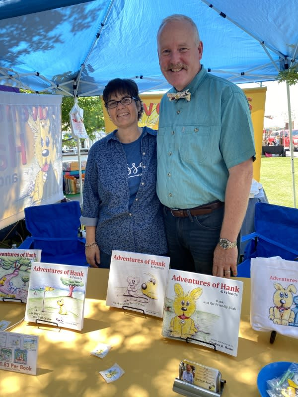 Charles Rowe with wife at Farmers & Artisan Market