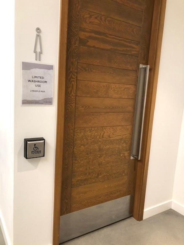 Washroom at Mt. Boucherie Winery