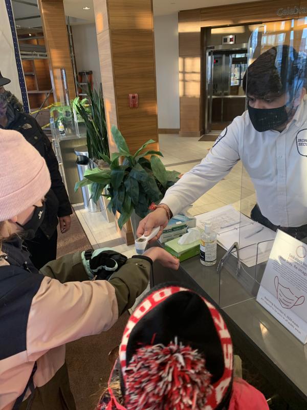 Saskatoon Inn WFH temp check-in