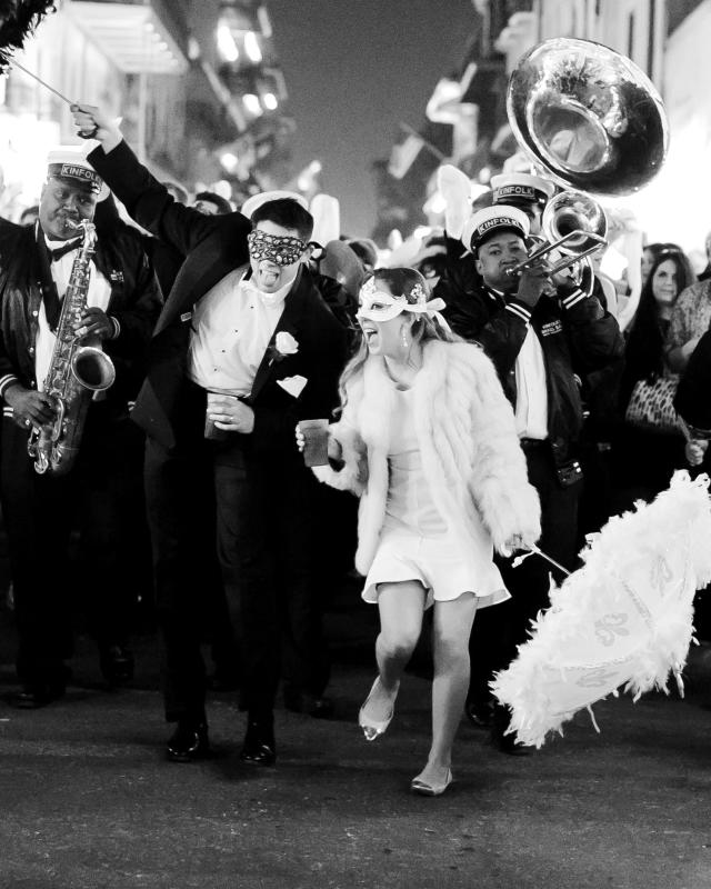 French Quarter wedding second line