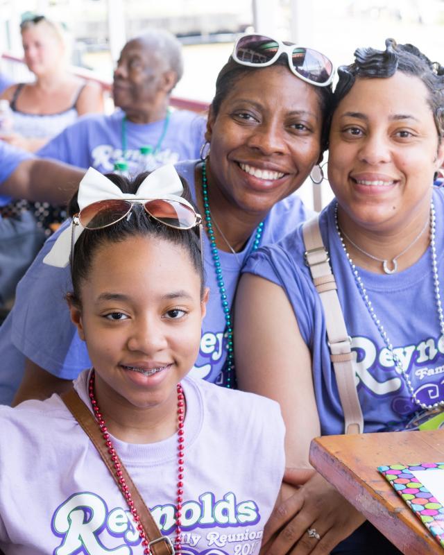 Family reunion, riverfront, French Quarter, Steamboat Natchez