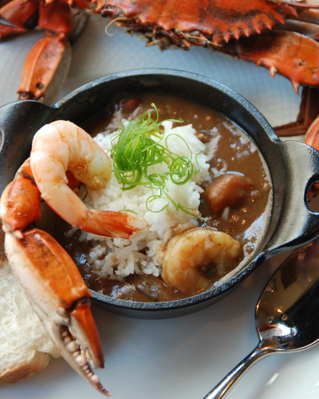 Gumbo, crab, shrimp