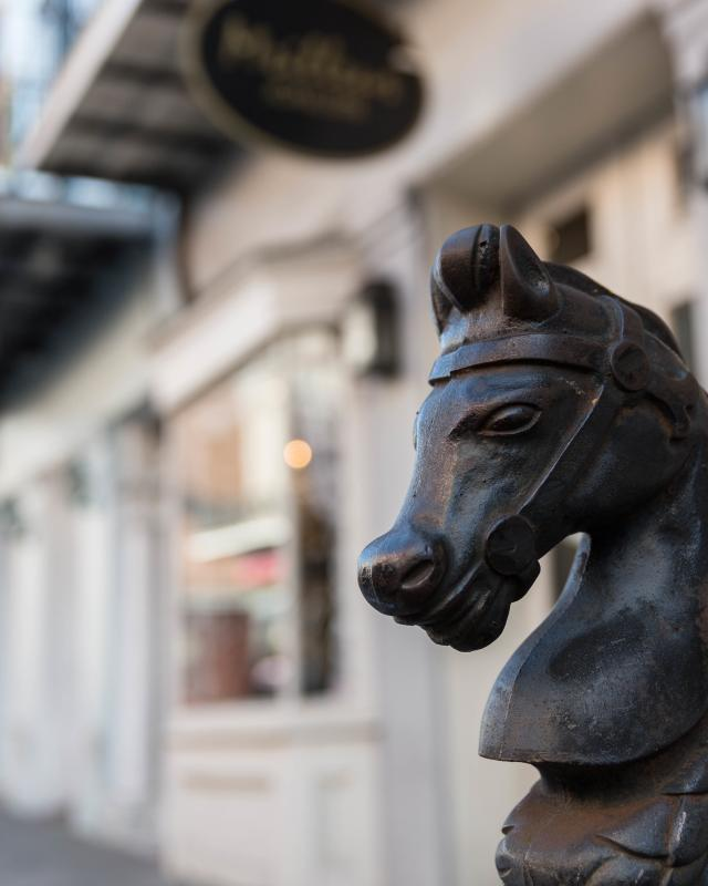 Horse-head Hitching Post in the French Quarter