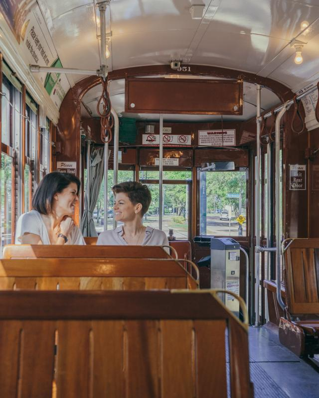A Leisurely Ride on the St. Charles Avenue Streetcar