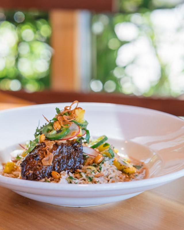 Short Rib with Adobe Sauce and Mango Salad from Mondo Restaurant