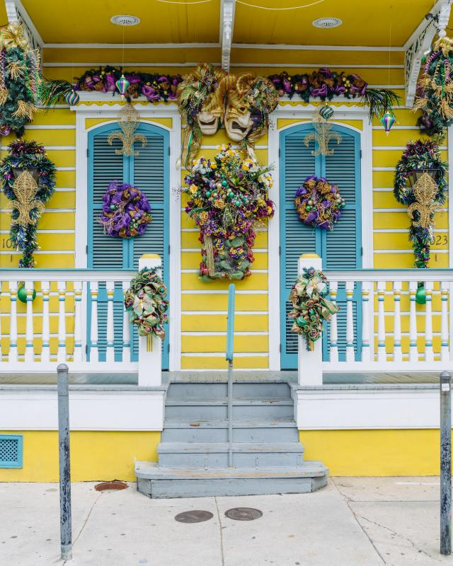 French Quarter Mardi Gras Decorations