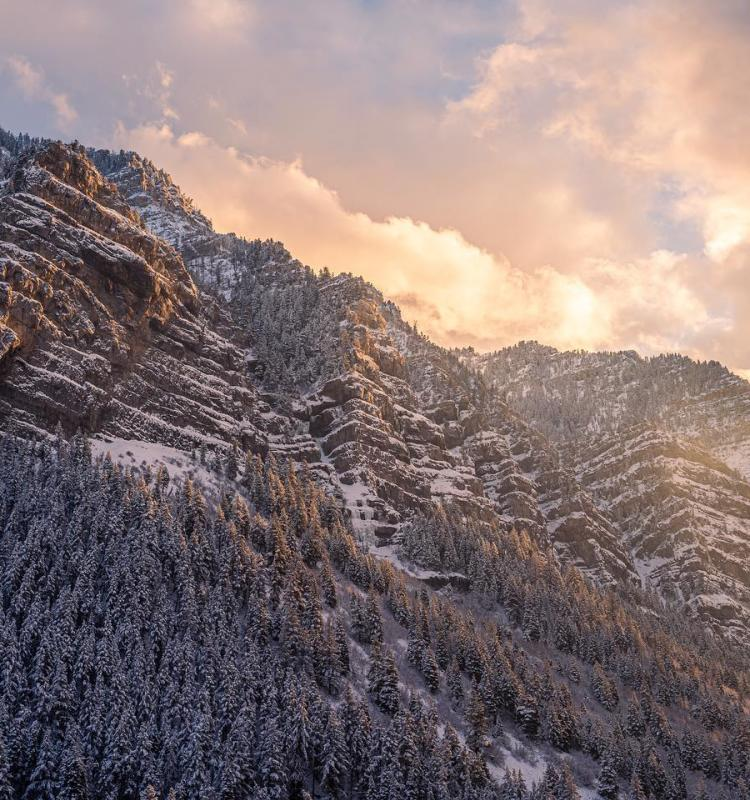 Provo Canyon in Winter