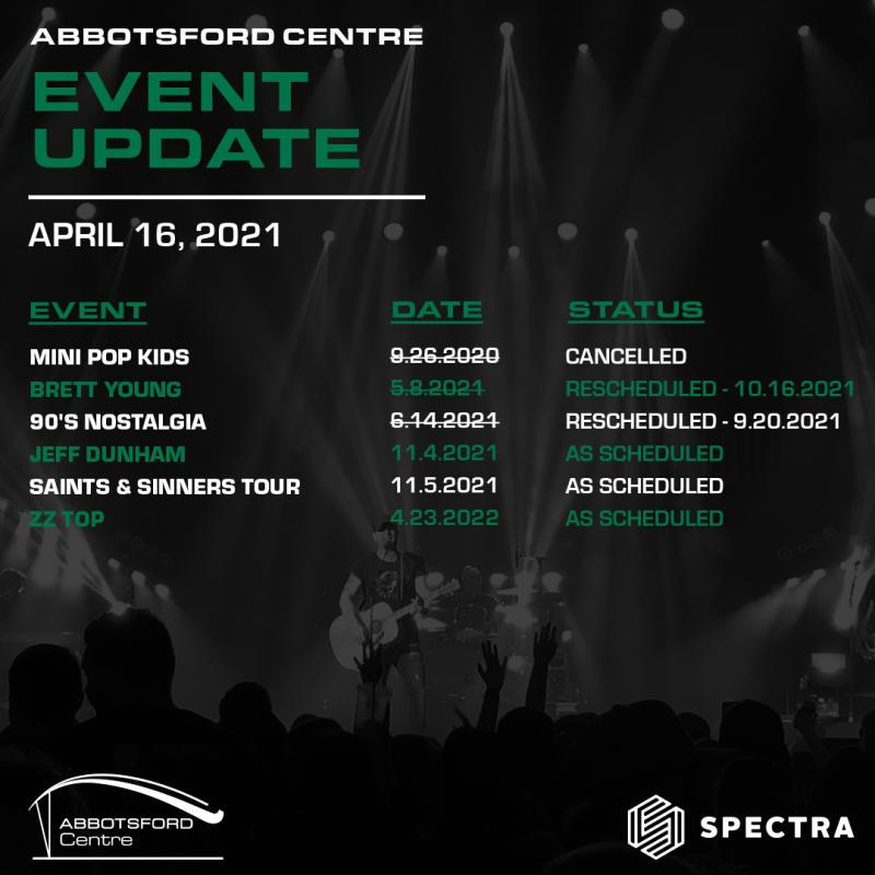 APRIL 16 EVENT UPDATES