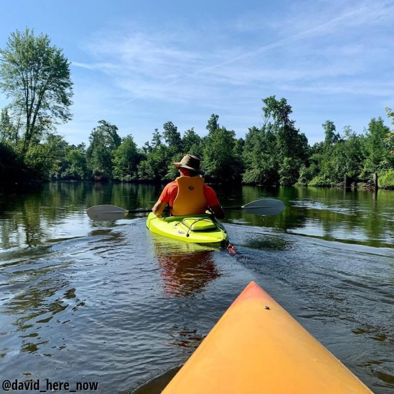 Kayaking at Hudson Mills