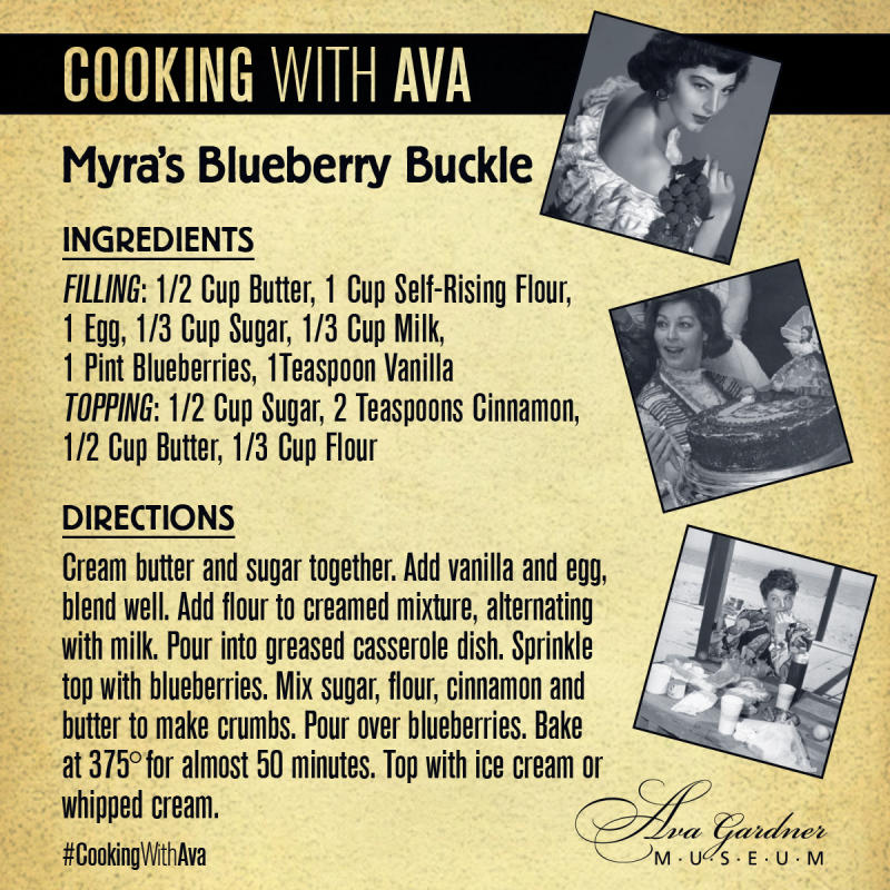 Myra's Blueberry Buckle