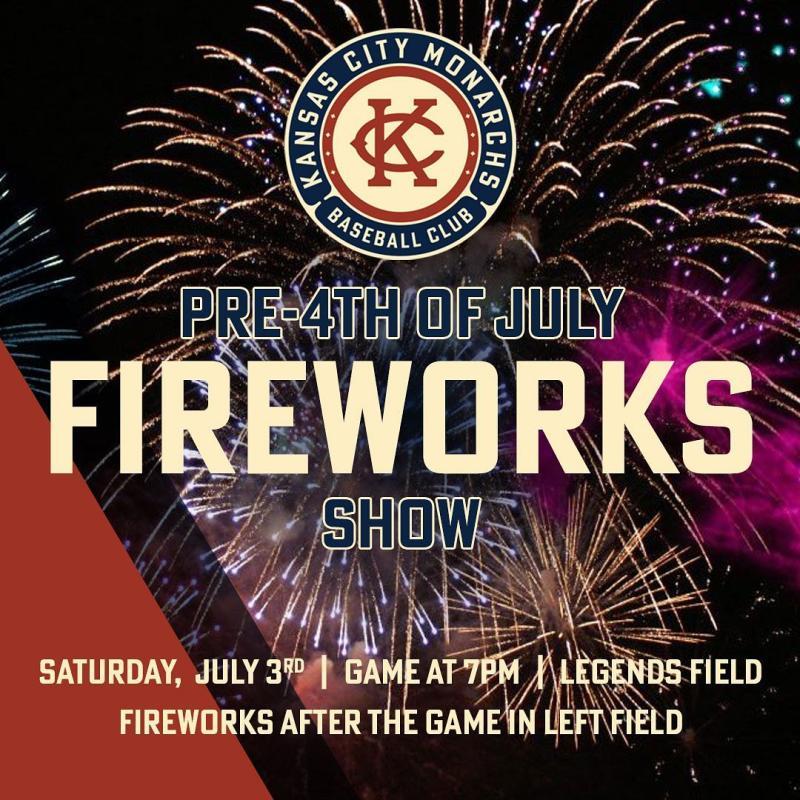 KC Monarchs pre fourth fireworks