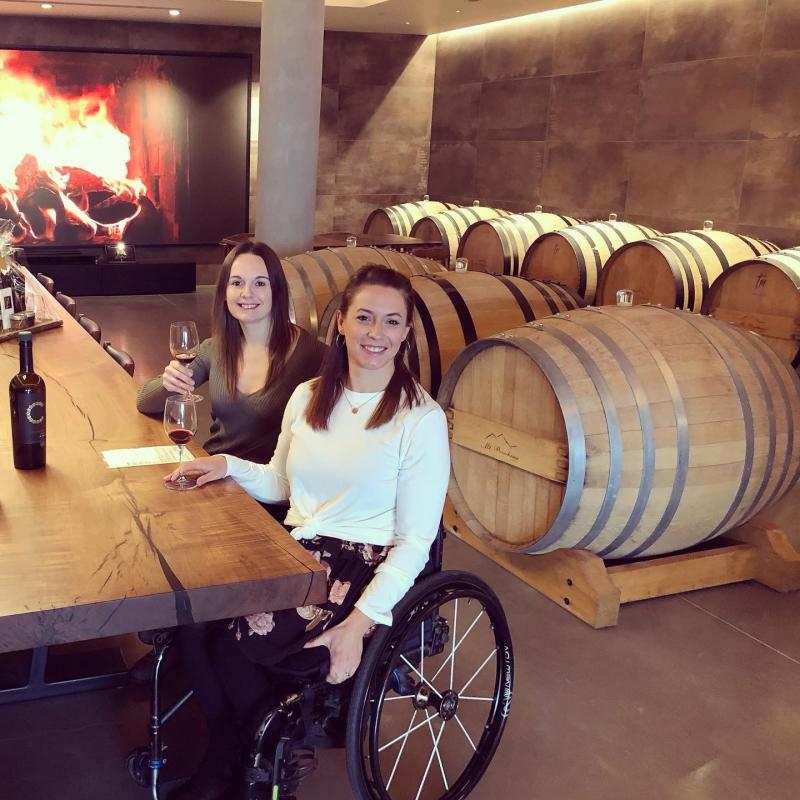 Andrea & Cara at Mt. Boucherie Winery
