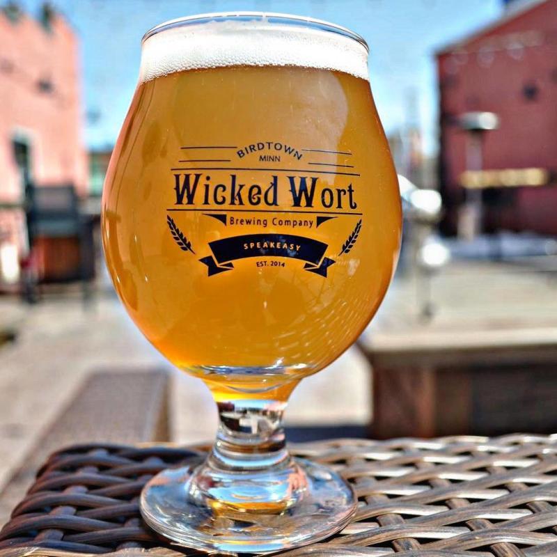Glass of Wicked Wort beer