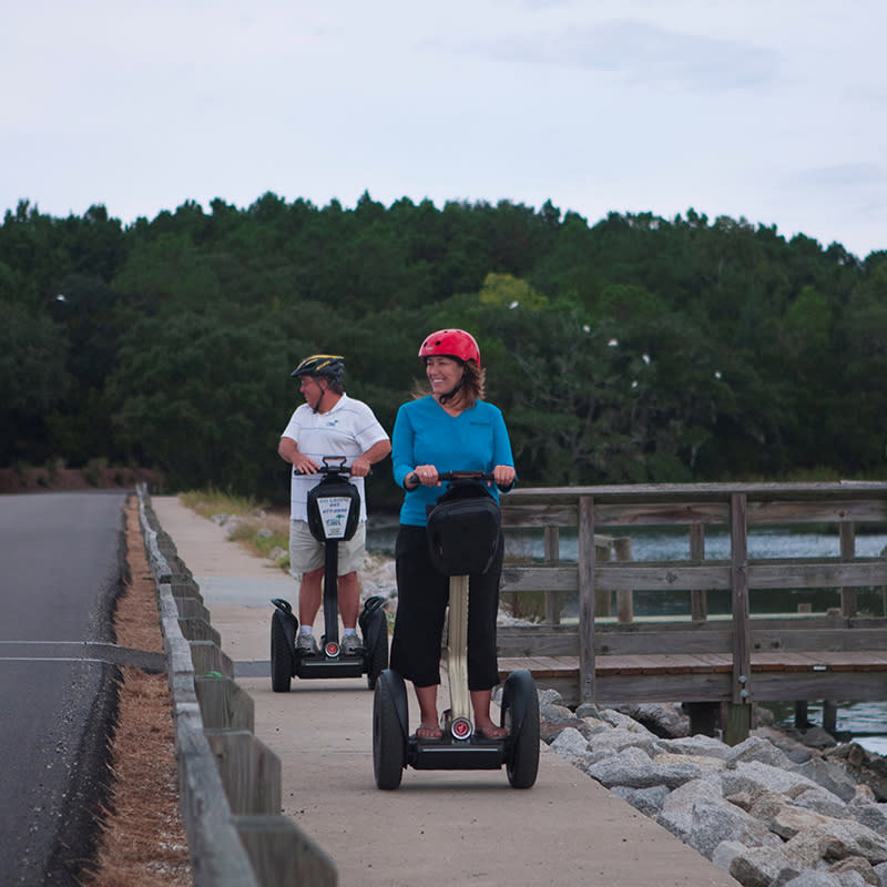 Riding segways at Huntington Beach State Park