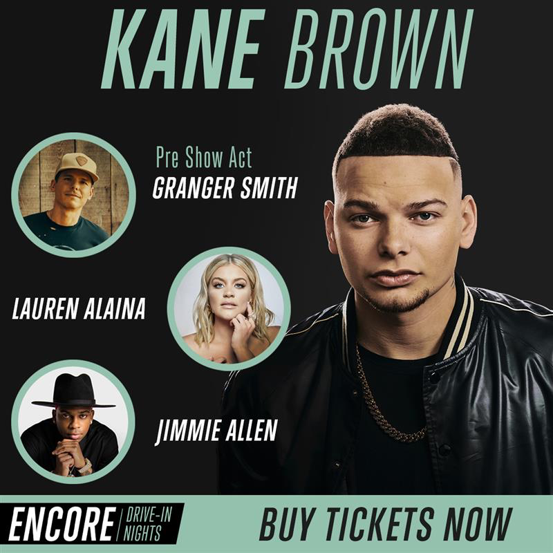 ENCORE Presents Kane Brown with Special Guests, Live-Streamed at Stars and Stripes Drive-In Theatre in New Braunfels, Texas