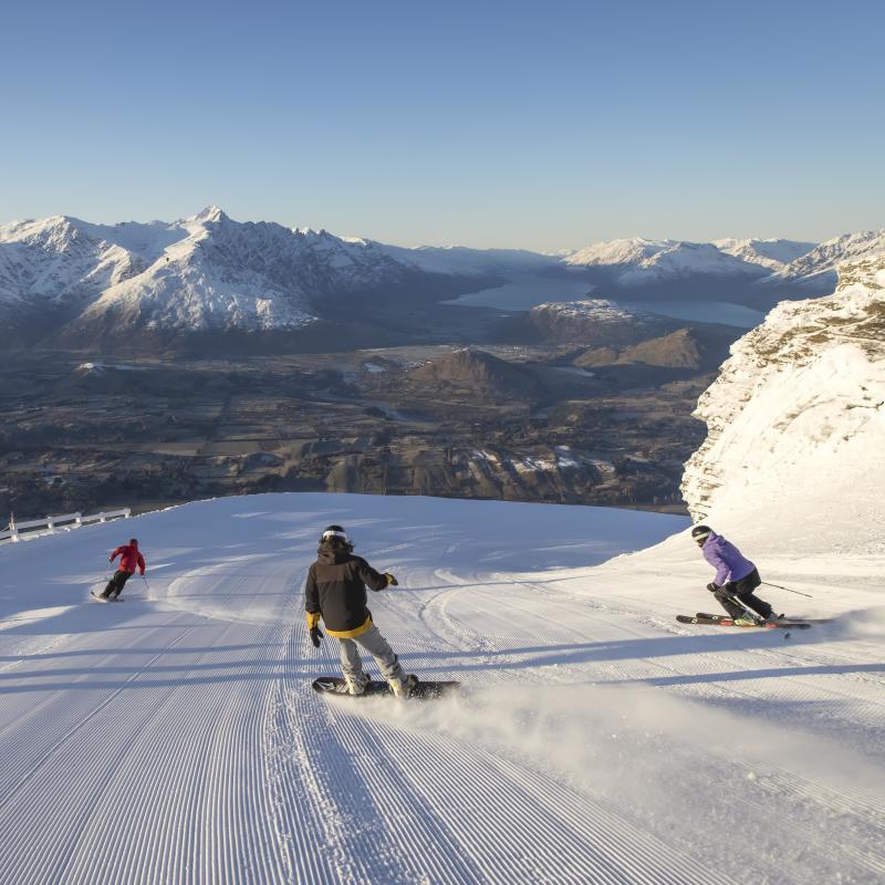 Skiing Coronet Peak