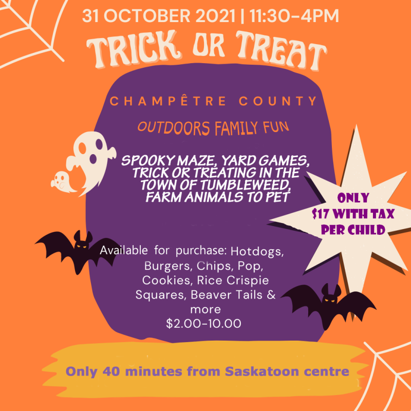 Family Friendly Halloween event Champetre County
