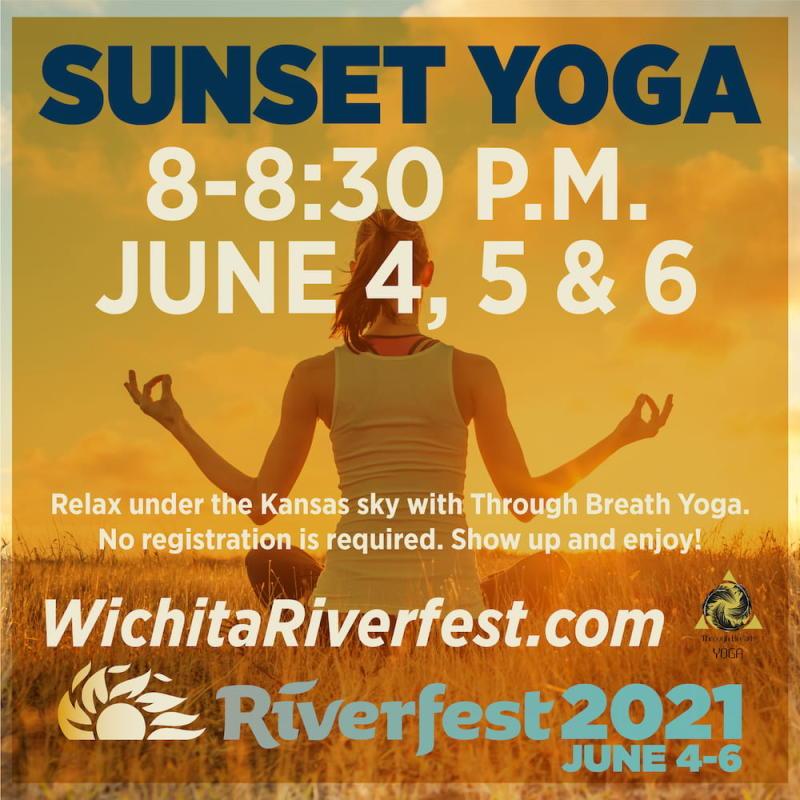 Wichita Riverfest Sunset Yoga