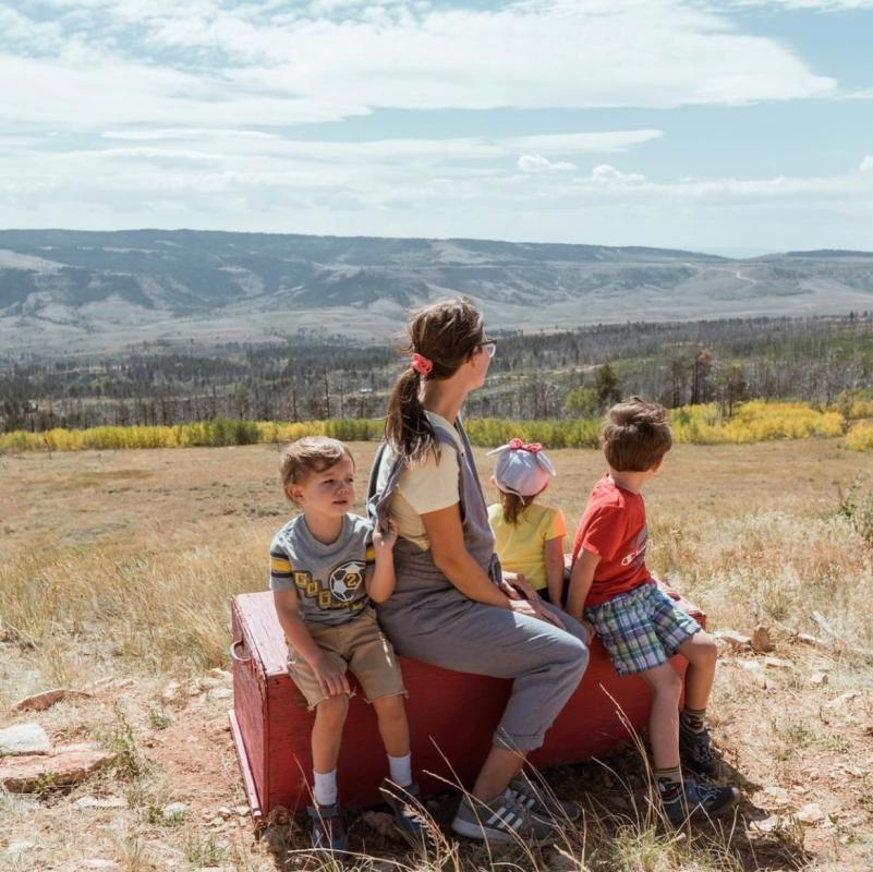 Family Casper Mountain in Fall