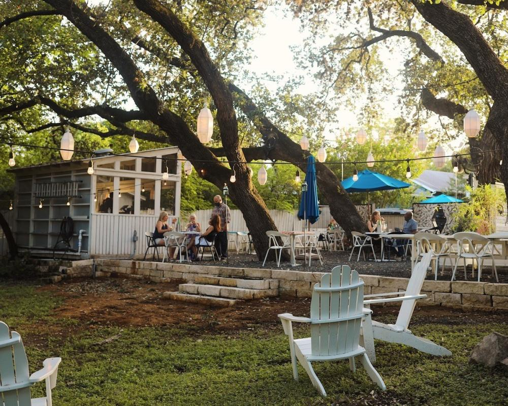 Lenoir restaurant wine garden in Austin Texas