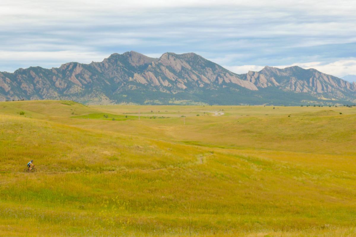 Mountain biker on Marshall Mesa High Plains