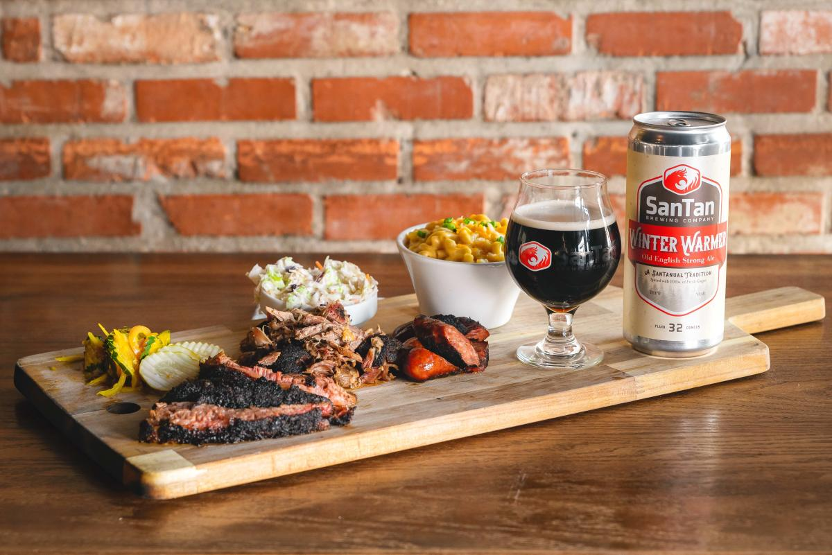 SanTan Winter Warmer Thanksgiving dinner features classic BBQ fare with a side of SanTan Ale.