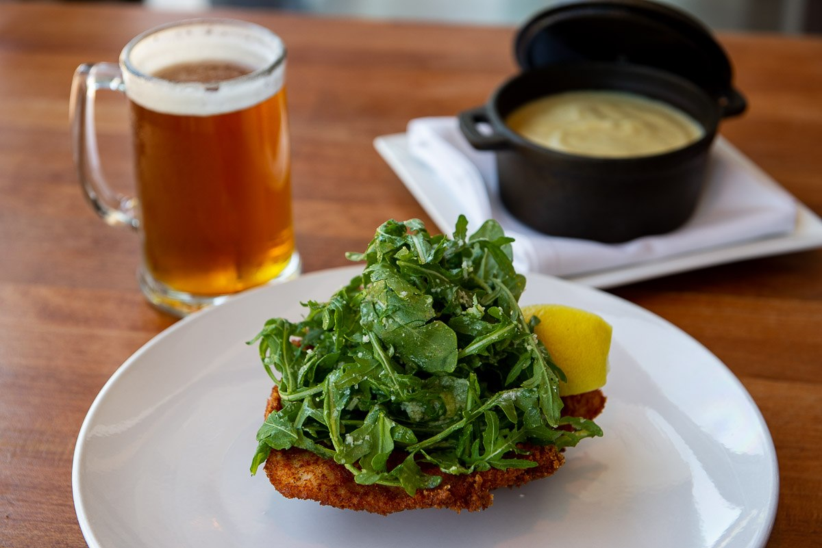 Venable Bistro Chicken with Arugula and shaved Parmesan