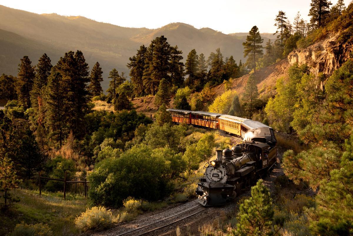 Fall Train in Durango, Colorado
