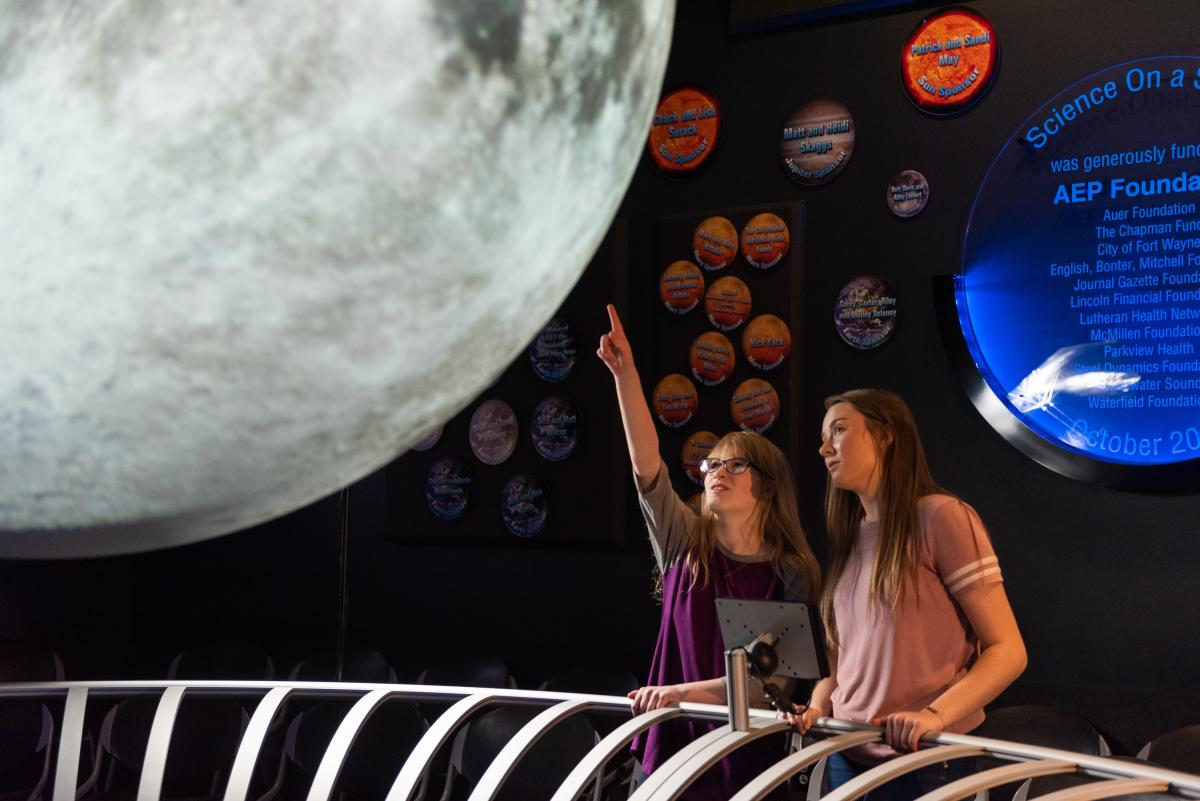 Girls exploring Science Central