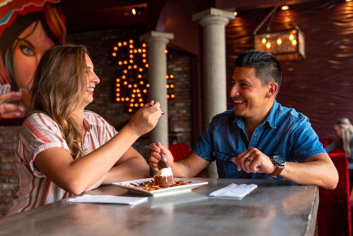 Romantic Dessert with Couple