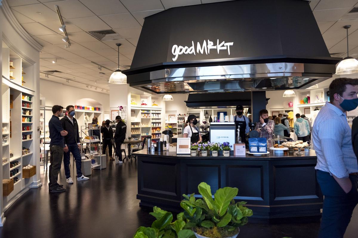 Cafe inside GoodMRKT at Jefferson Pointe shopping center