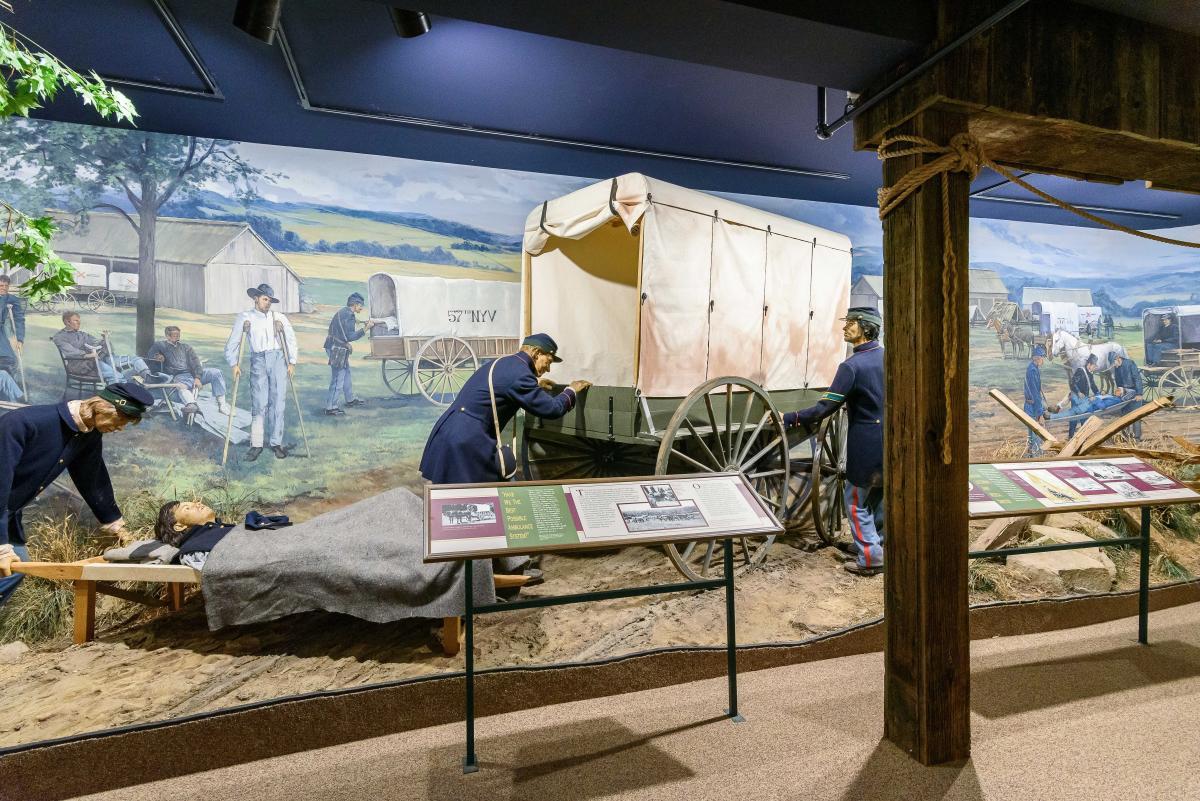 Civil war exhibit at the National Museum of Civil War Medicine