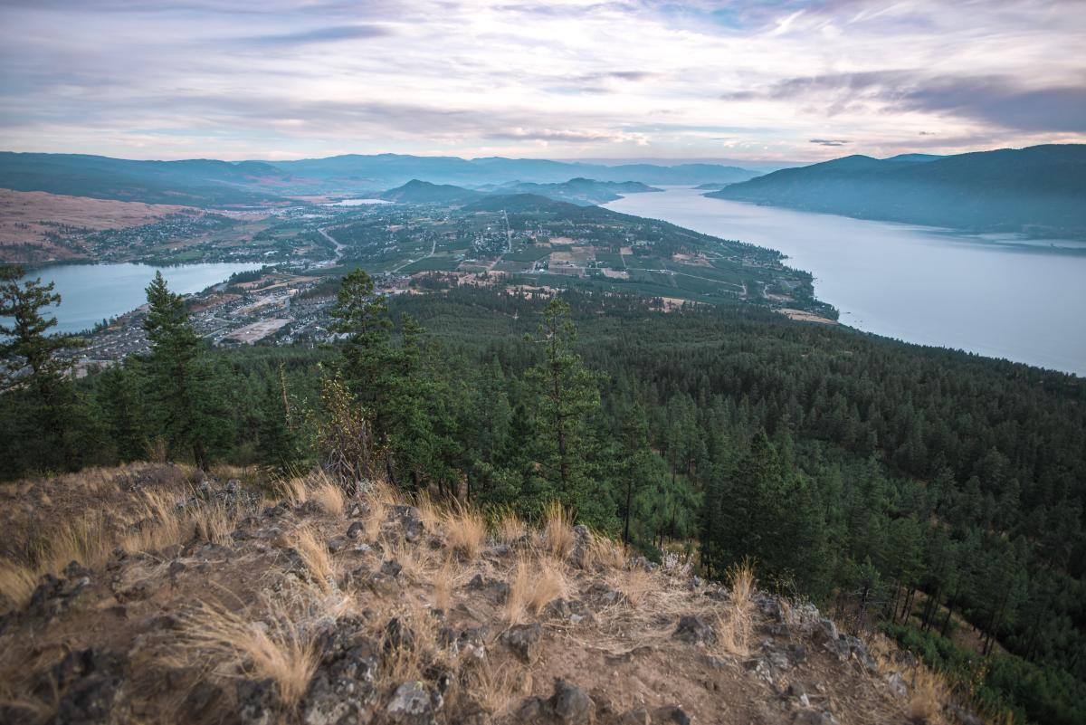 View from Spion Kop Hiking Trails in Lake Country, BC