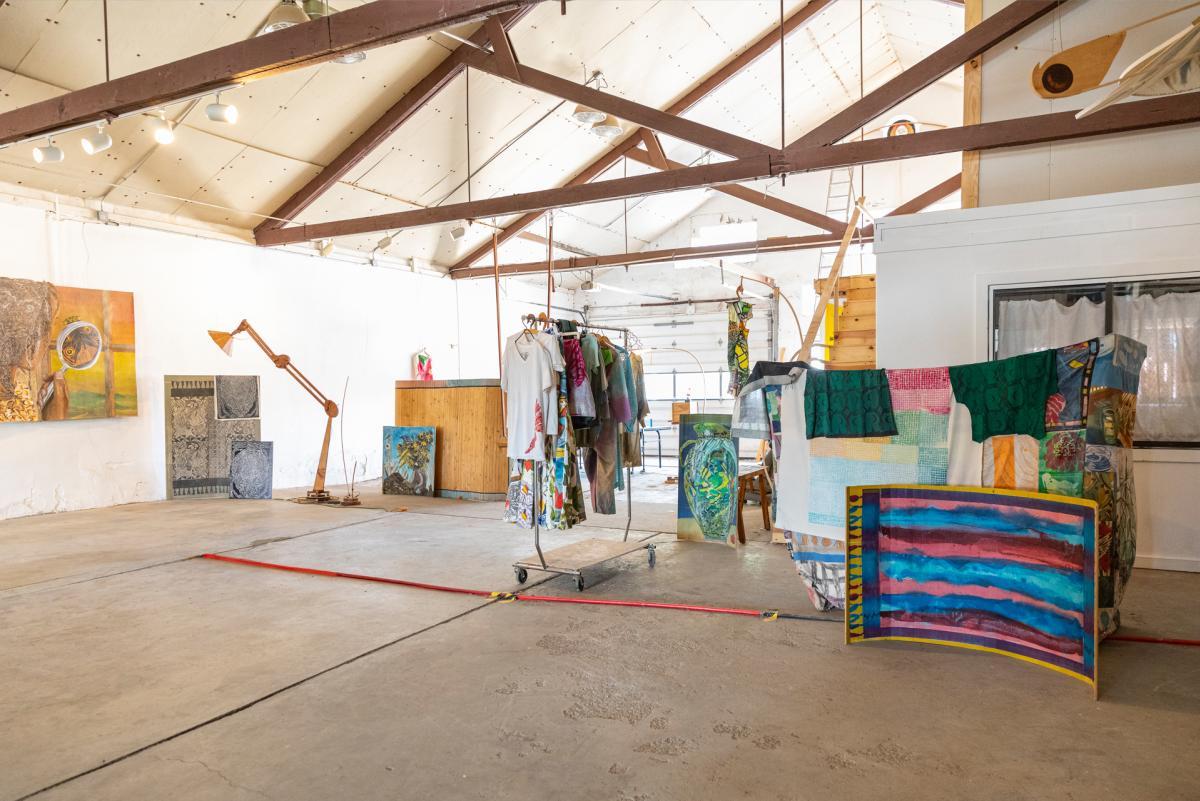 Paula Wilson makes art in a former Ford garage